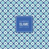 在伊斯兰教的样式的无缝的样式 库存照片