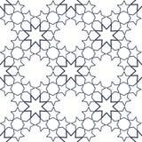 在伊斯兰教的样式的装饰无缝的样式 抽象背景向量 库存图片