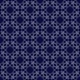 在伊斯兰教的样式的装饰无缝的样式 抽象背景向量 免版税库存图片