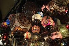 在伊斯坦布尔市场的光 库存图片