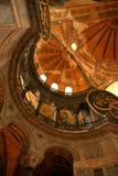 在伊斯坦布尔清真寺sophia里面的ayasohya hagia 免版税图库摄影