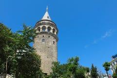 在伊斯坦布尔采取的加拉塔塔,土耳其 免版税库存照片