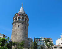 在伊斯坦布尔采取的加拉塔塔,土耳其 免版税图库摄影