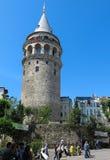 在伊斯坦布尔采取的加拉塔塔,土耳其 库存照片