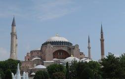 在伊斯坦布尔,土耳其Oldtown的著名圣索非亚大教堂  库存照片