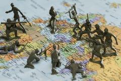 在伊朗的战争 图库摄影