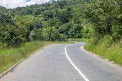 在伊林加地区的森林公路在坦桑尼亚团结了共和国 库存照片
