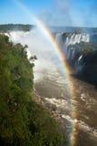 在伊瓜苏瀑布的彩虹 库存照片