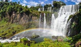 在伊瓜苏瀑布,阿根廷的彩虹 图库摄影