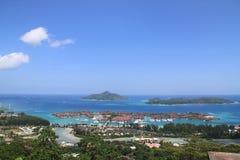 在伊甸园海岛的看法 库存照片