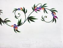 在伊维萨岛街道上的街道画艺术  库存图片