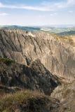 在伊莫拉小山的沟壑 库存图片