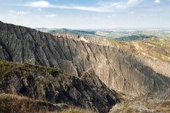 在伊莫拉小山的沟壑 图库摄影
