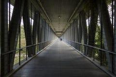 在伊萨尔河河的桥梁在慕尼黑 库存图片