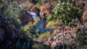 在伊迪丝的砂岩悬崖落,凯瑟琳,澳大利亚 免版税图库摄影