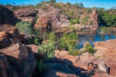 在伊迪丝秋天的上部水池,凯瑟琳,澳大利亚 免版税库存图片