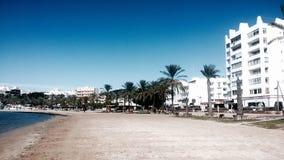 在伊维萨岛的海滩 免版税库存图片