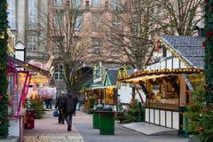 在伍伯托男服务员的圣诞节市场,德国 2017年12月 免版税库存图片
