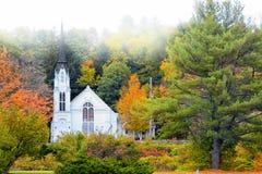 在伍德斯托克佛蒙特附近的教会 免版税图库摄影