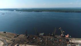 在伏尔加河和翼果的鸟瞰图 影视素材