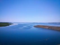 在伏尔加河的看法 免版税库存图片