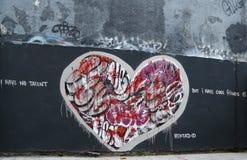 在休斯敦大道的墙壁上的艺术在伦敦苏豪区 免版税库存图片