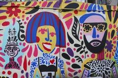 在休斯敦大道的墙壁上的艺术在伦敦苏豪区 免版税图库摄影