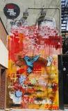 在休斯敦大道的墙壁上的艺术在伦敦苏豪区 免版税库存照片