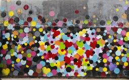 在休斯敦大道的墙壁上的艺术在伦敦苏豪区 库存照片