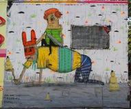 在休斯敦大道的墙壁上的艺术在更低的曼哈顿 免版税库存图片
