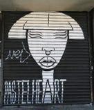 在休斯敦大道的墙壁上的艺术在更低的曼哈顿 库存图片