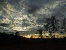 在优胜美地谷的日落在加利福尼亚 库存照片