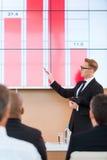 介绍在会场里 免版税库存图片