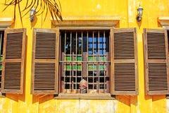 在会安市,越南的窗口联合国科教文组织世界遗产名录 库存图片
