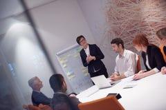 在会议的商人小组 免版税图库摄影