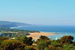 Anglesea海岸线伟大的海洋路 图库摄影
