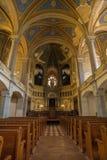 在伟大的犹太教堂里面在比尔森,捷克共和国 图库摄影
