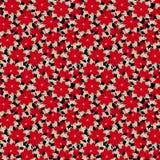在传染媒介的时髦无缝的花卉样式 库存例证