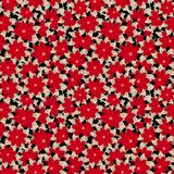 在传染媒介的时髦无缝的花卉样式 皇族释放例证