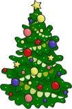 在传染媒介的美丽的圣诞树 库存图片