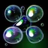 在传染媒介的五颜六色的肥皂泡收藏 库存照片