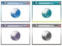 在传染媒介的浏览器 免版税库存照片
