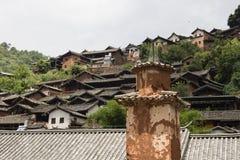 在传统中国村庄Nuodeng的Vien 免版税库存图片