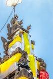 在传统仪式期间的巴厘语寺庙在Ubud,Gianyar 免版税库存图片