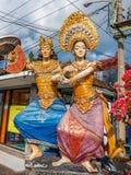 在传统巴厘语的雕象关闭 库存照片