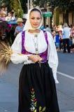 在传统撒丁岛服装的画象 免版税图库摄影