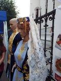 在传统亚美尼亚服装的Manequinns 免版税库存图片