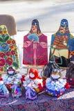 在传统国民执行的手工家庭项目Ru 库存图片
