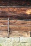 在传统木大厦的细节 免版税库存图片
