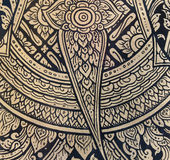 在传统泰国样式艺术绘画的样式 免版税库存照片